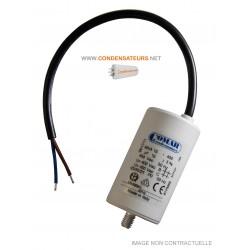 Condensateur 16µf, 16mf, 16 microfarads 450V CABLE pour moteur leroy somer