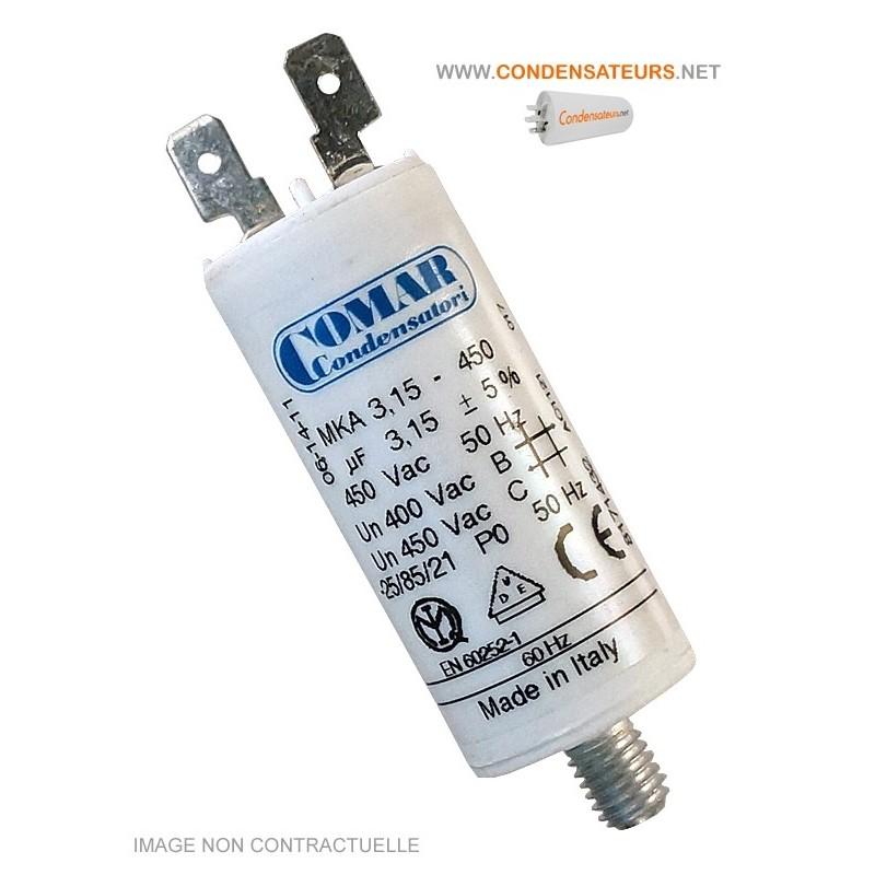 Condensateur de démarrage 3 µf 450V COSSES