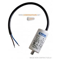 Condensateur de démarrage 7mf 450V à câble