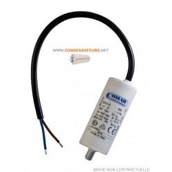 Condensateur de démarrage 8mf 450V à câble