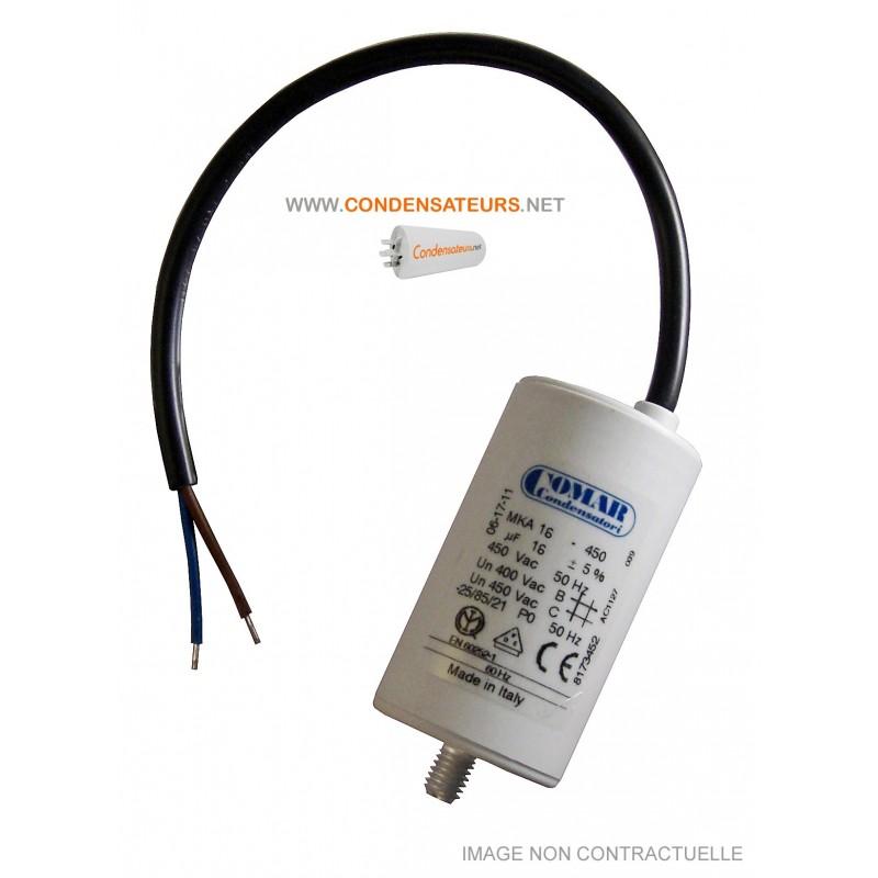 Condensateur de démarrage 16µF cable