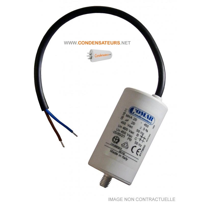 Condensateur de démarrage 20µF câble