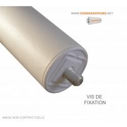 Vis de fixation condensateur de démarrage 25µF 450V cable