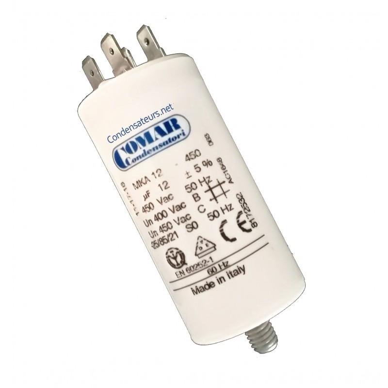 Condensateur 12µf, 12mf, 12 microfarads 450V COSSES