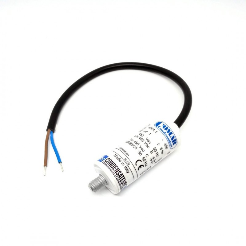 Condensateur permanent 1µF à câble pour moteur électrique