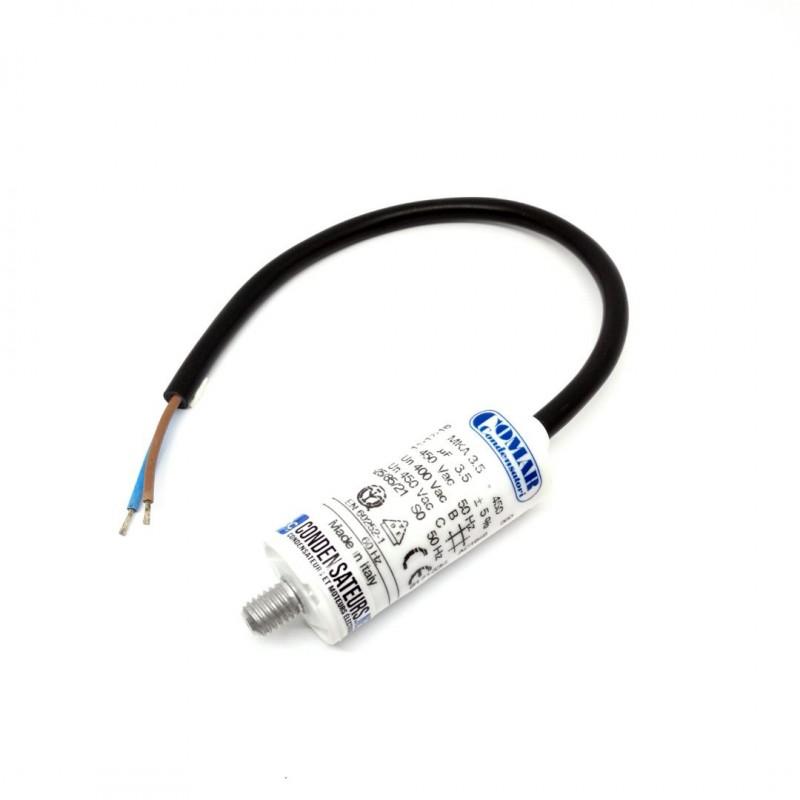 Condensateur permanent 3.5µf à cable pour moteur électrique