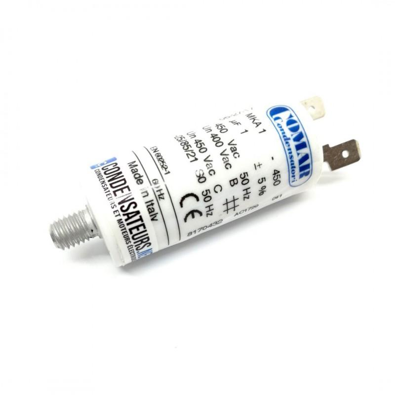Condensateur permanent 1µF à cosses pour moteur électrique