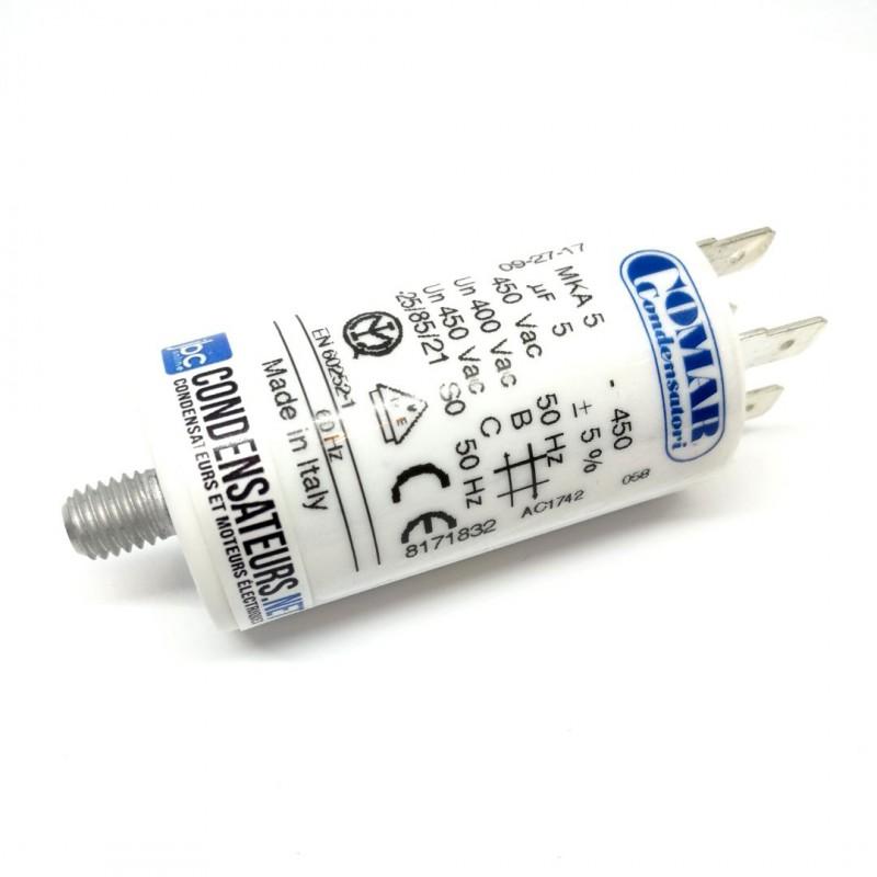 Condensateur permanent 5µF à cosses pour moteur électrique