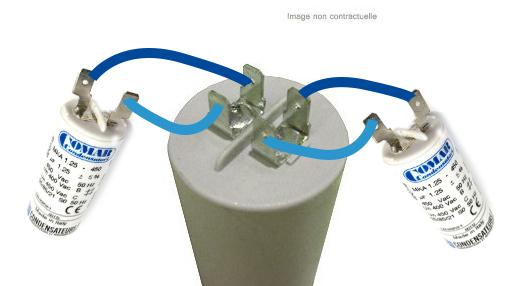 Brancher des condensateurs deux cosses sur un condensateur 4 cosses